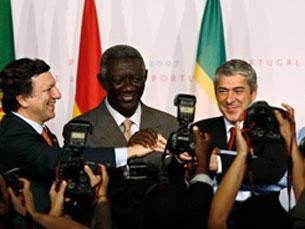 Sócrates realçou o número de participantes no evento Foto: Presidência Portuguesa da UE