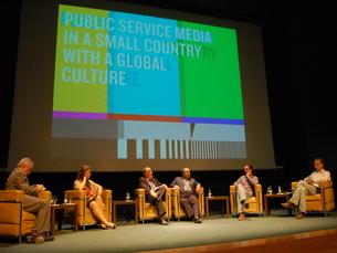 A presença de dois dirigentes da RTP no lote de conferencistas serviu para falar sobre o canal público Foto: Ana Melo