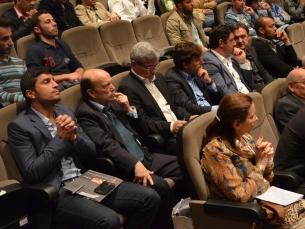 Os protagonistas, enquanto espectadores, durante a homenagem ao jornalista Fernando Correia Foto: Diogo Azeredo