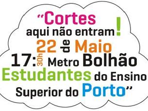 O protesto está marcado para 22 de maio, às 17h30, na estação de metro do Bolhão Foto: DR