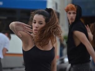 "A performance ""Rolling People"" teve a orientação de Carlos Silva Foto: Fabiana Queirós de Oliveira"