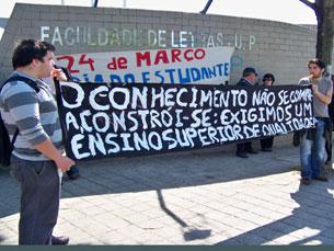 A AEFLUP convocou um protesto para 22 de maio, junto à reitoria da Universidade do Porto Foto: Manaíra Aires/Arquivo JPN