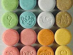 Ecstasy faz danos irreversíveis e tem efeitos a longo prazo Fotos: DR/JPR