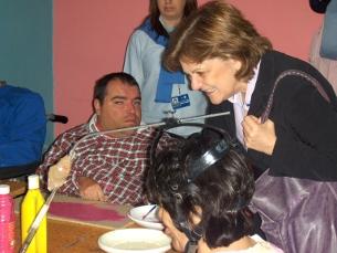 Elisa Ferreira em visita à Associação Portuguesa de Paralisia Cerebral Foto: Andreia Azevedo