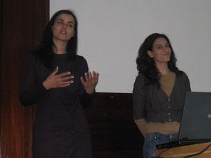 As conselheiras ensinam aos alunos da FCUP como se comportar numa entrevista de emprego Foto: Daniela Espírito Santo
