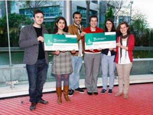 Os quatro estudantes vencedores são alunos de Arquitetura Paisagista na FCUP Foto: DR