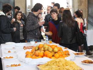 """O """"Eurolunch"""" serviu para assinalar o fim da Semana Internacional da Universidade do Porto Foto: Tiago Leão"""