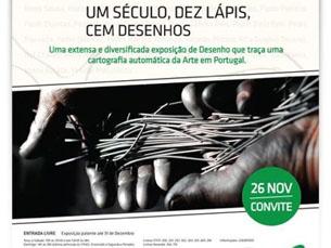 A exposição traz ao Porto os desenhos de 100 artistas portugueses Foto: DR