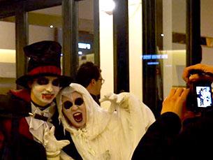 """A exibição de """"Vampire Academy"""" no primeiro dia do Fantasporto foi pretexto para outros """"vampiros"""" deambularem pelo Rivoli Fotos: JPN"""
