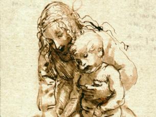 """A obra """"Rapariga lavando os pés a uma criança"""", de Leonardo da Vinci, vai estar em destaque Foto: DR"""