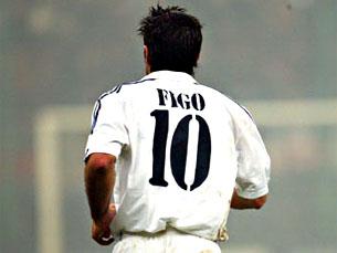 """Figo foi """"o melhor do mundo"""" ao serviço do Real Madrid Foto: DR"""