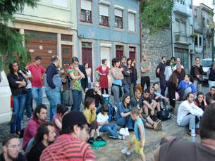 O Largo da Fontinha foi palco para troca de ideias Foto: Daniel Cerejo