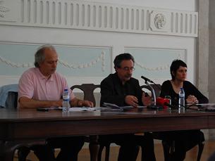 A apresentação do cartaz esteve a cargo de Mário Moutinho, director do FITEI Foto: Diana Ferreira