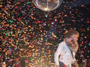 The Flaming Lips transformaram o palco numa espécie de parque de diversões para adultos Foto: Ana Maria Henriques