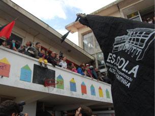 O regresso à escola da Fontinha ficou marcado por um clima de grande festa Fotos: Luciano Santos