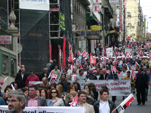 USP apelou à participação na manifestação de dia 5 de Junho em Lisboa contra o Governo Foto: Ana Silva / Arquivo JPN