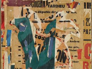 """Detalhe de """"Hains Honore"""", uma obra de François Dufrêne, de 1968 Foto: DR"""