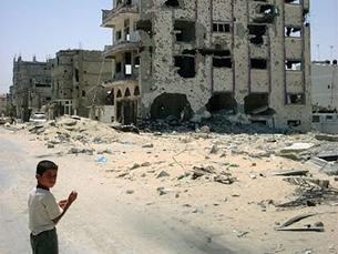 80% da população da Faixa de Gaza depende da ajuda humanitária internacional Foto: DR