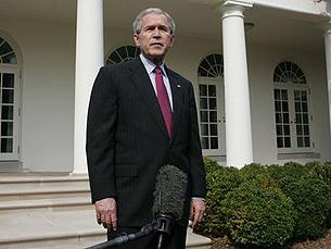 Bush não aceita retirada das tropas Foto: