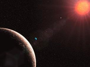 A massa do Gliese 581e é apenas duas vezes superior à da Terra Foto: