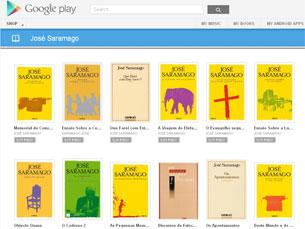 José Saramago é um dos autores com mais destaque na loja da Google Foto: DR