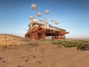The Green Machine, a cidade flutuante que promete gerar vida no deserto do Sahara Foto: DR