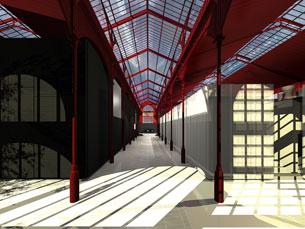 O interior do Hard Club vai ser composto por três grandes espaços Imagem: DR