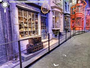 Percorrer Diagon Alley está, agora, à distância de um clique, através do Google Street View Foto: Google Street View