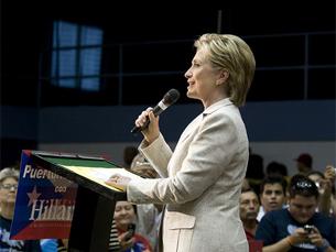 Era esperada o abandono de Clinton da corrida democrata à nomeação para as presidenciais Foto: DR