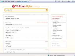 O Wolfram Alpha responde a perguntas directas dos utilizadores Foto: DR