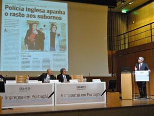Silva Pereira fez referência, na sua intervenção, para o que considera serem exemplos de mau jornalismo Fotos: Rita Salomé Esteves