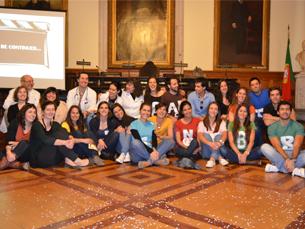 A iniciativa contou com  a realização de pequenos teatros protagonizados por estudantes do ICBAS Foto: Ana Magalhães