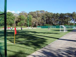 O complexo desportivo é formado por dois campos sintéticos de relva e dois de areia Foto: Patrícia Lima