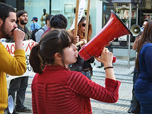Inês Soares, presidente da AEFBAUP, diz que a AE só ficará satisfeita quando travar estas medidas que têm vindo a pôr em causa a vida dos estudantes Foto: Fábio Silva