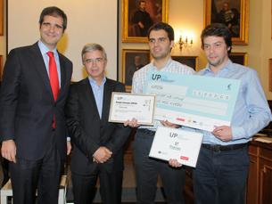 O TerMonitor, projeto de António Silva e Miguel Neves, foi o grande vencedor do IUP25K Foto: DR