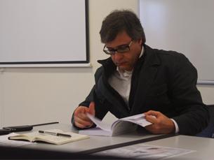João Tocha foi o primeiro convidado do Seminário de Comunicação Política Foto: Tiago Leão