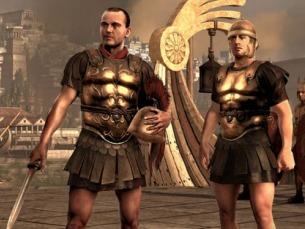 """James Payne (à esquerda), é um comandante do exército romano, em  """"Total War: Rome II"""" Foto: DR"""