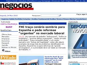 Jornal de Negócios venceu na categoria de Site de Informação e Diário de Informação Económica Foto: DR