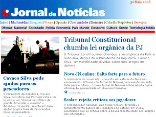 Nova versão do site do JN aposta na multimédia Foto: DR