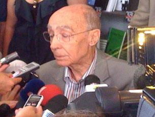 """José Saramago foi à Feira do Livro para """"estar com as pessoas"""" Foto: Daniel Reifferscheid"""