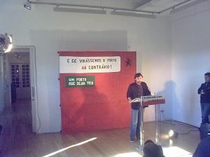 José Soeiro apresentou a sua candidatura na Cooperativa Árvore, este sábado, 18 de maio Foto: Ana Magalhães