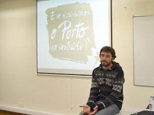 """José Soeiro diz que """"é necessária uma democracia participativa"""" no Porto Foto: Joana Rôxo"""