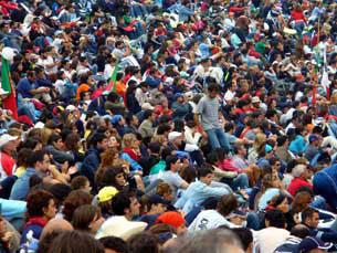 A Porta do Sol vai receber os protestos dos espanhós até domingo, dia de eleições municipais Foto: Arquivo JPN