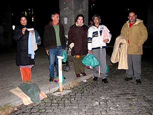 LBV faz rondas nocturnas junto dos sem abrigo todas as sextas e sábados Foto: Eduarda Pires