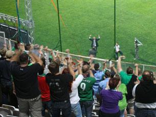 As claques portuguesas que vão marcar presença em Dublin prometeram algumas surpresas Foto: funky1opti