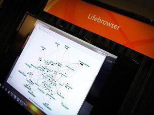 O Lifebrowser permite aos utilizadores navegarem na cronologia da própria vida Foto: DR