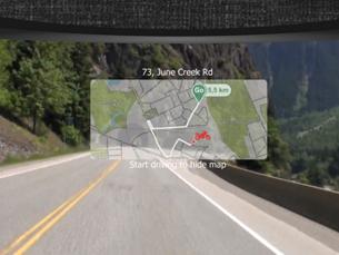 A aplicação terá um sensor de luz para ajustar o brilho da imagem, de acordo com as condições externas de luz Foto: DR