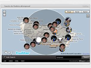 Informações provêm da hashtag do Twitter #tempmad Imagem: DR