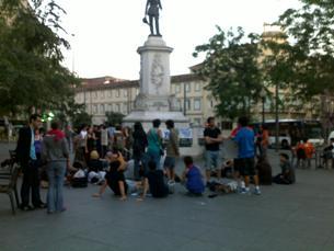 A pouca divulgação da manifestação foi apontada como a principal causa da fraca adesão Foto: Marília Freitas