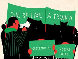 O povo unido não precisa de partido foi uma das frases gritadas este sábado, na manifestação do Porto Imagem: Catarina de Vilhena